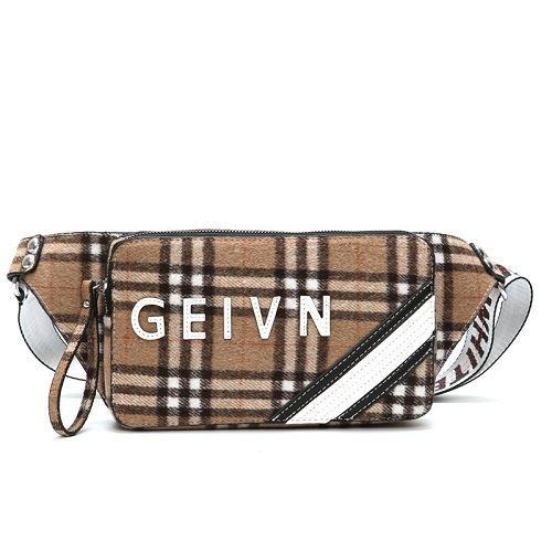 JTF123432-khaki Waist Bag Fashion Wanita Cantik Import