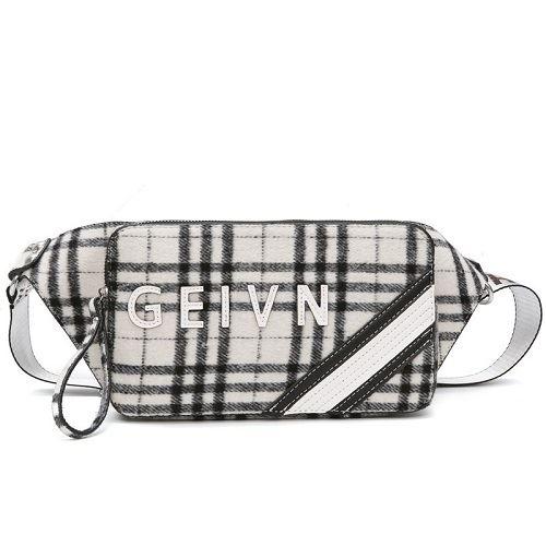 JTF123432-white Waist Bag Fashion Wanita Cantik Import