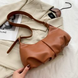 JTF12435-brown Tas Selempang Modis Wanita Cantik Import