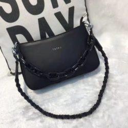 JTF12520-black Tas Selempang Rantai Wanita Cantik Import Terbaru