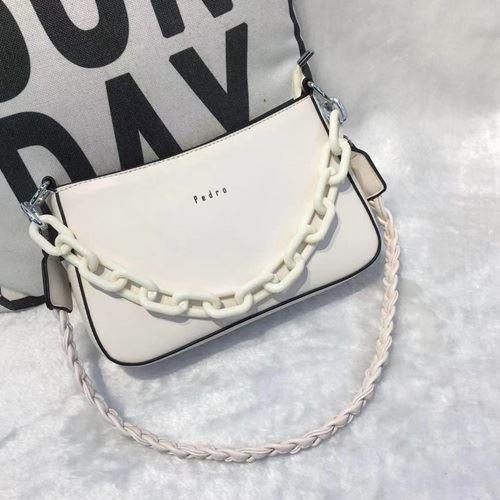 JTF12520-white Tas Selempang Rantai Wanita Cantik Import Terbaru