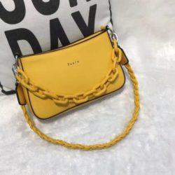JTF12520-yellow Tas Selempang Rantai Wanita Cantik Import Terbaru
