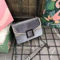 JTF1258-gray Tas Selempang Wanita Cantik Fashion Import