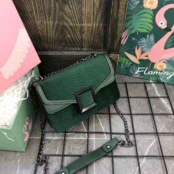 JTF1258-green Tas Selempang Wanita Cantik Fashion Import