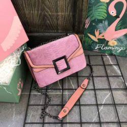 JTF1258-pink Tas Selempang Wanita Cantik Fashion Import