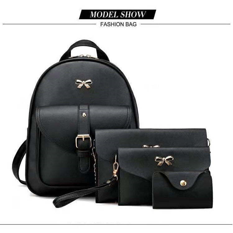 JTF1273 (4IN1) IDR.60.000 MATERIAL PU SIZE L25XH30XW10CM WEIGHT 650GR COLOR BLACK