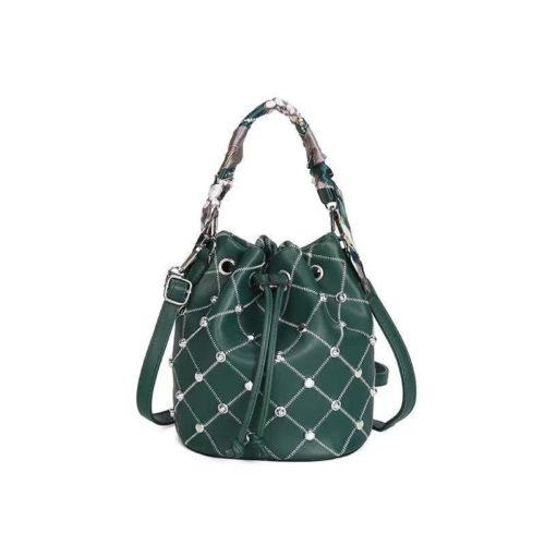 JTF12843-green Tas Handbag Serut Selempang Wanita Cantik Import