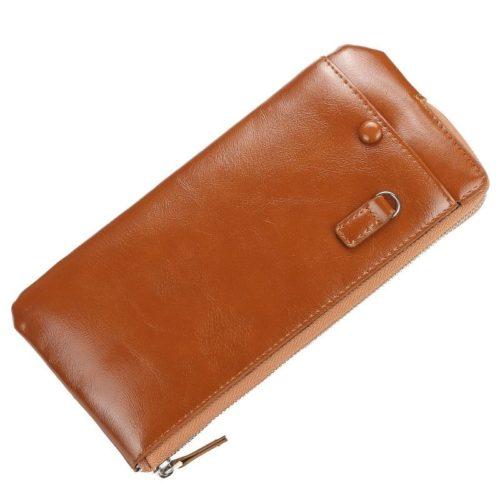 JTF1286-brown Dompet Panjang Kulit Elegan Import