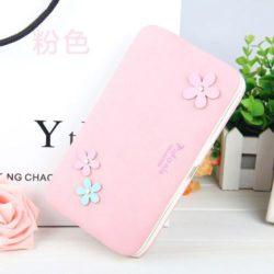 JTF1312-pink Dompet Panjang PIDANLU Cantik Lucu Terbaru