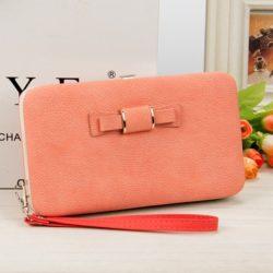 JTF1318-pink Dompet Panjang Cantik Wanita Terbaru