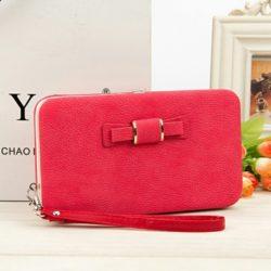 JTF1318-red Dompet Panjang Cantik Wanita Terbaru