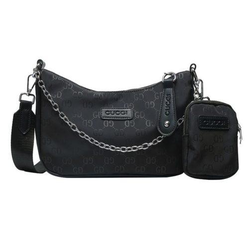 JTF13331-black Tas Sling Bag Stylish GD 2in1 Wanita Keren Import