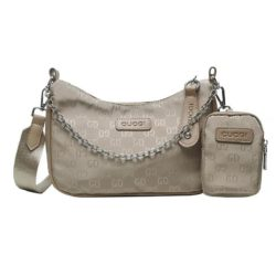 JTF13331-khaki Tas Sling Bag Stylish GD 2in1 Wanita Keren Import