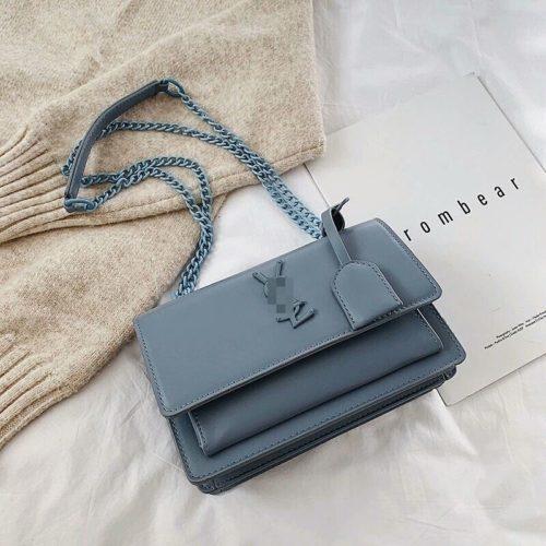 JTF13486-blue Tas Selempang Wanita Elegan Import Terbaru