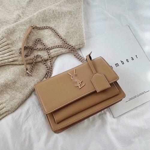 JTF13486-khaki Tas Selempang Wanita Elegan Import Terbaru