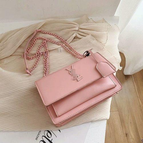 JTF13486-pink Tas Selempang Wanita Elegan Import Terbaru