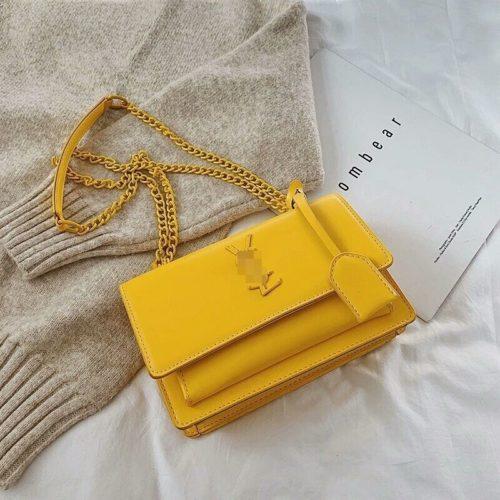JTF13486-yellow Tas Selempang Wanita Elegan Import Terbaru