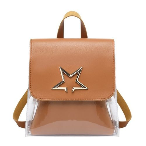 JTF1376-brown Tas Ransel Mini Fashion Wanita Cantik