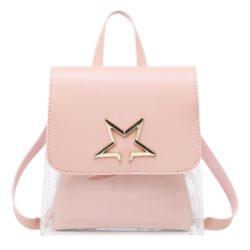 JTF1376-pink Tas Ransel Mini Fashion Wanita Cantik