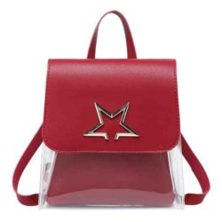 JTF1376-red Tas Ransel Mini Fashion Wanita Cantik