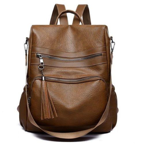 JTF142451-brown Tas Ransel Import Wanita Cantik Terbaru