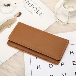 JTF1565B-brown Dompet Panjang Fashion Wanita Import