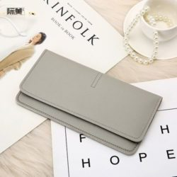 JTF1565B-lightgray Dompet Panjang Fashion Wanita Import