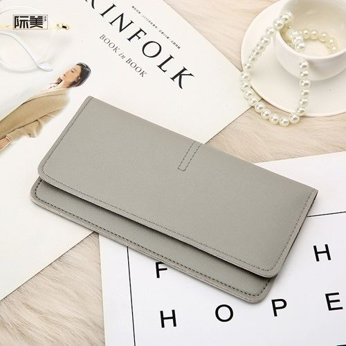 JTF1565B-lightgray Dompet Panjang Fashion Wanita Import