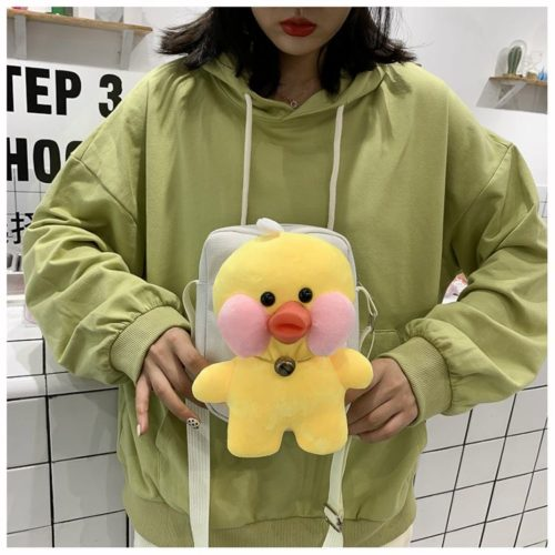 JTF16011-yellow Tas Selempang Boneka Imut Wanita Cantik