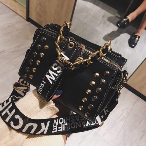 JTF16435-black Tas Selempang Fashion Modis Elegan Wanita