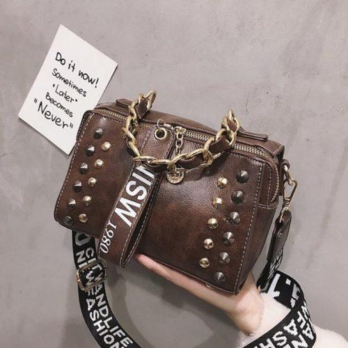 JTF16435-coffee Tas Selempang Fashion Modis Elegan Wanita