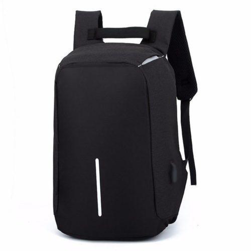 JTF1701-black Tas Ransel Pria Anti Maling Colokan USB