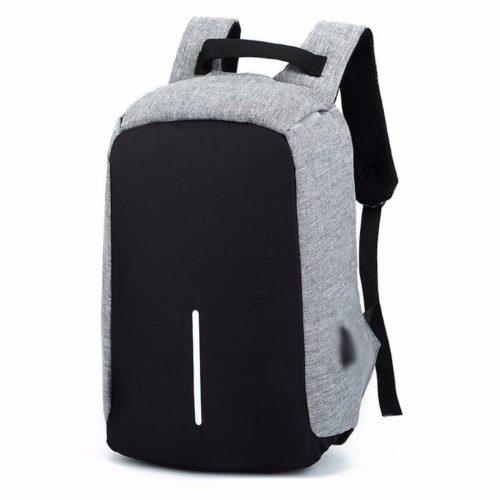 JTF1701-gray Tas Ransel Pria Anti Maling Colokan USB