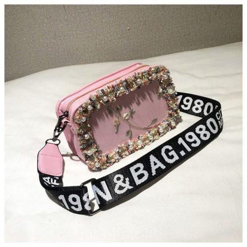 JTF18174-pink Slingbag Fashion Stylish Import Terbaru