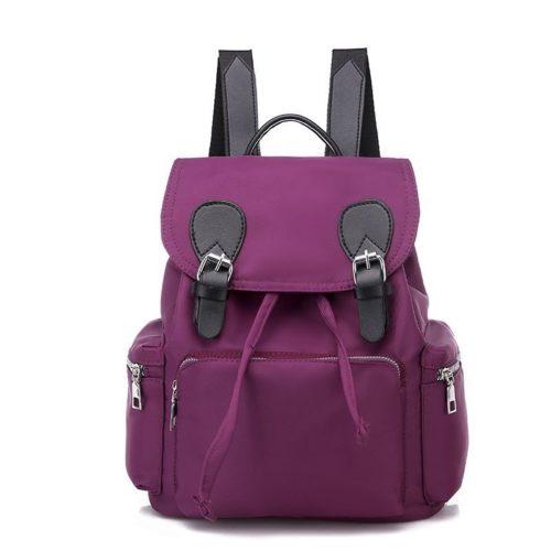 JTF18203-purple Tas Ransel Oxford Wanita Cantik Import Terbaru