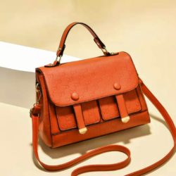 JTF18667-orange Tas Handbag Wanita Cantik Elegan Import