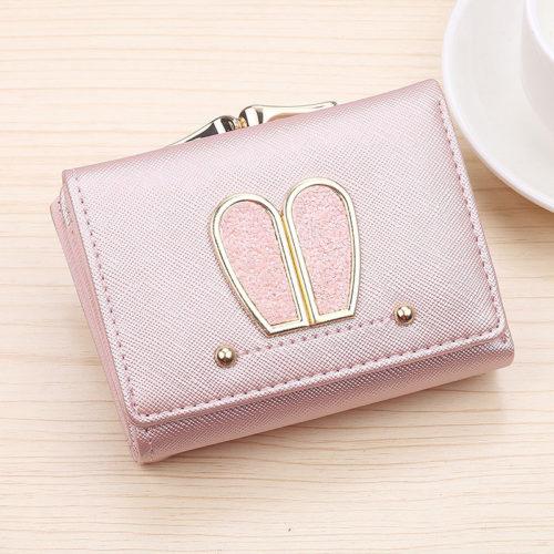 JTF188-pink Dompet Lipat Wanita Cantik Terbaru