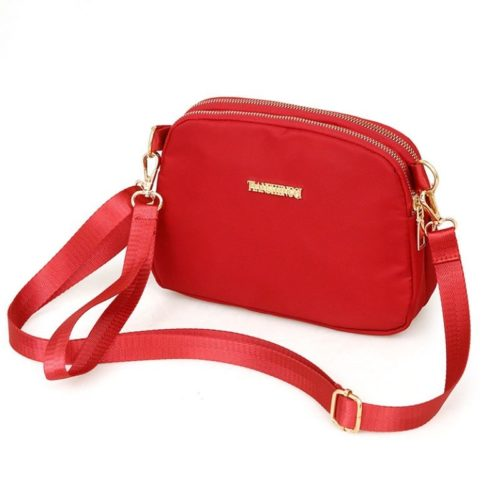 JTF18805-red Tas Selempang Import Wanita Cantik Modis