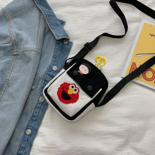 JTF1913-black Tas Selempang Dompet Handphone Wanita Import