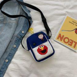 JTF1913-blue Tas Selempang Dompet Handphone Wanita Import