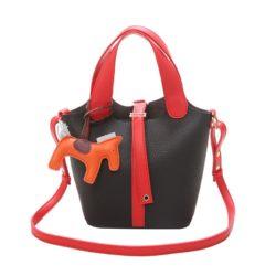 JTF1920-black Tas Handbag Selempang Gantungan Pony Import