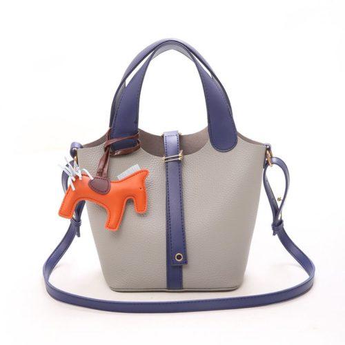 JTF1920-gray Tas Handbag Selempang Gantungan Pony Import