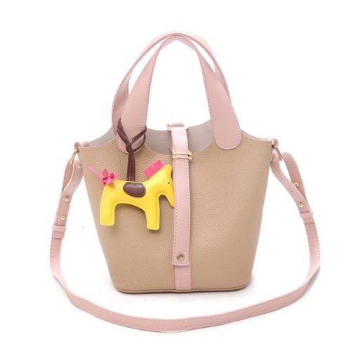 JTF1920-khaki Tas Handbag Selempang Gantungan Pony Import