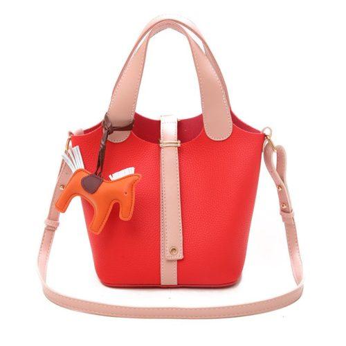 JTF1920-red Tas Handbag Selempang Gantungan Pony Import