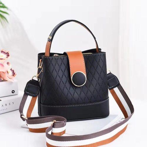 JTF19381-black Tas Selempang Fashion Wanita Cantik Terbaru