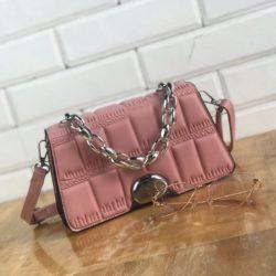JTF2003-pink Tas Selempang Clutch Tali Rantai Wanita Cantik Import