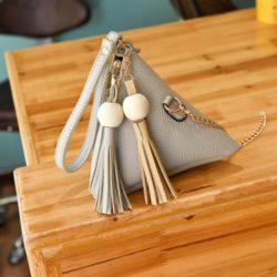 JTF208-gray Tas Triangular Fashion Wanita Modis
