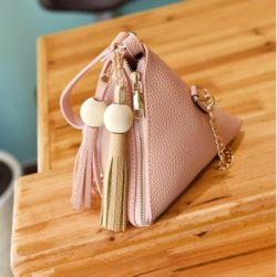 JTF208-pink Tas Triangular Fashion Wanita Modis
