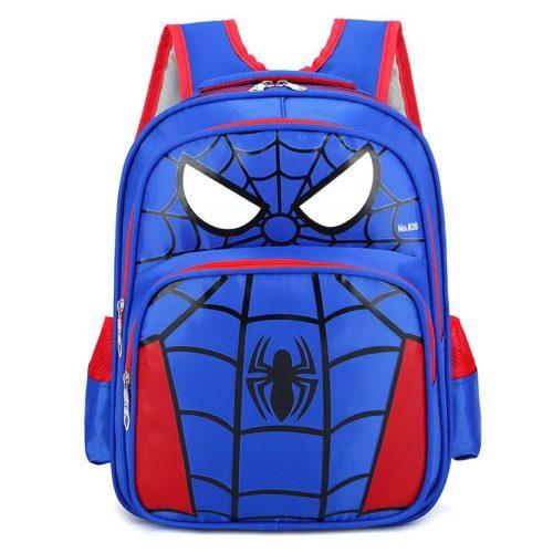 JTF210934-spidermanblue Tas Ransel Anak Sekolah Karakter Import