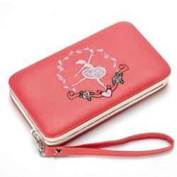 JTF2311-red Dompet Fashion Modis Cantik